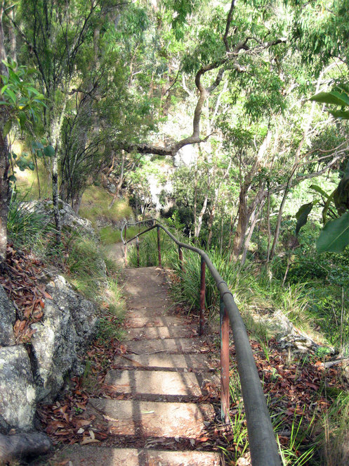 The walk is a little bit steep, but easy enough to do if you are not rushng