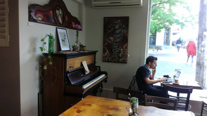 Rucker's Hill Cafe Piano