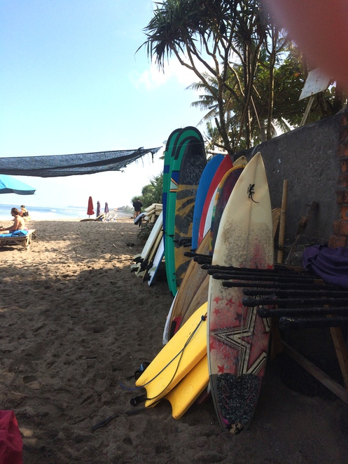 Surfoboards for rent, Berawa Beach, Bali