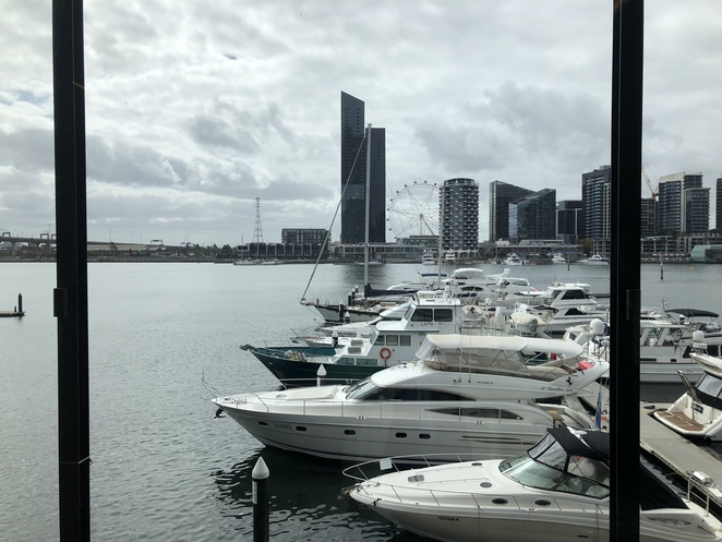 The Library at the Dock Docklands views book sale