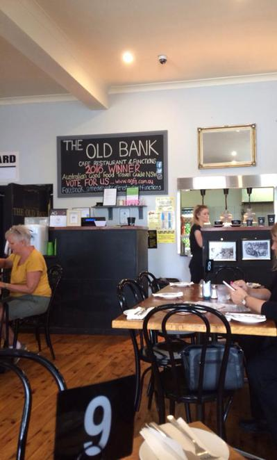 the old bank, cafe, restaurant, the entrance