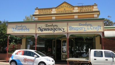 Courtyard Antiques on Toodyay's main street.