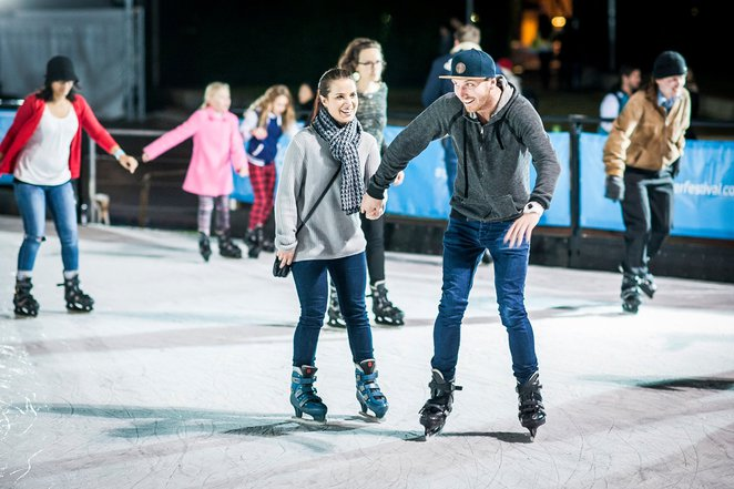 winter festival, canberra, ACT, date night, nightlife, couples, snow, ice skating, winter,
