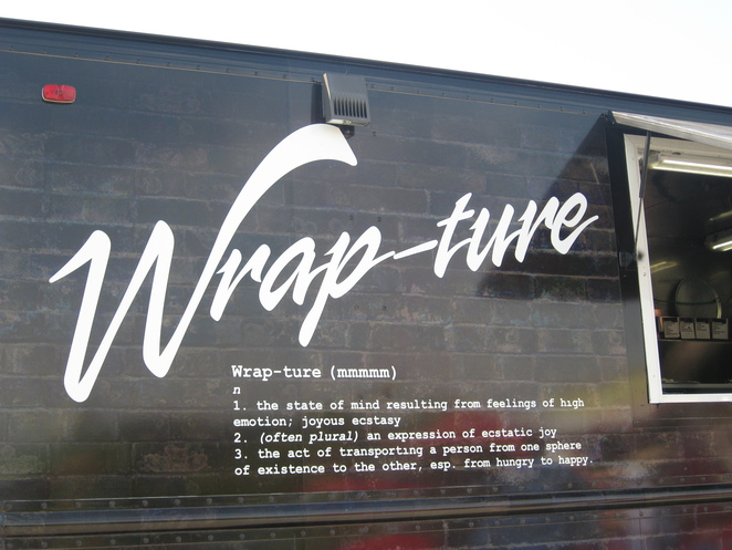 Wrap-Ture Food Truck, Wraps on Wheels, food truck, yam fries, wrap sandwiches, Nuclear Elvis,