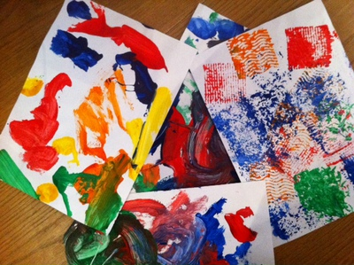 art, paint, toddler, messy play, card making