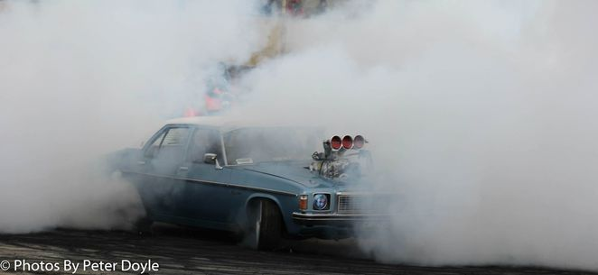 Burnout at Avalon Raceway