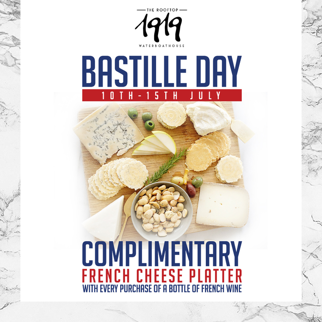 Bastille Day 2017, Bastille Day Singapore, 1919 Waterboathouse, Fullerton Hotel, Rooftop party singapore