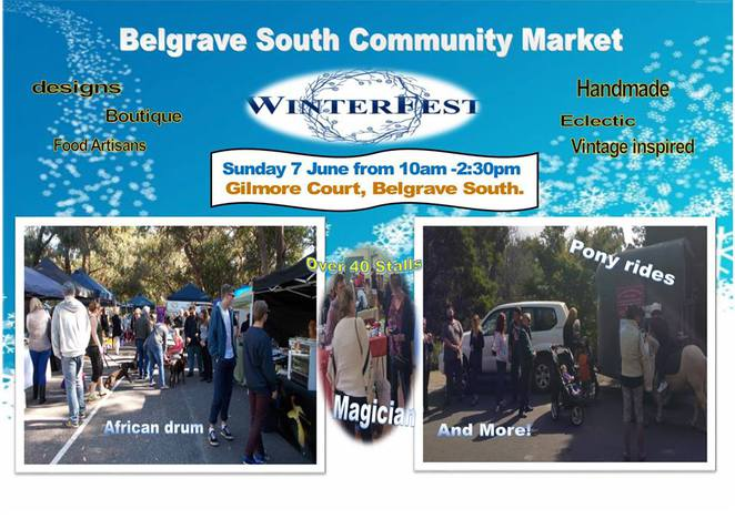 belgrave south community market, indie market, winter fest, giftware, market, belgrave market, magician, ony ride, shopping day, ovarian cancer, mrduk, eat my tarts, community center, friends of refugee, easter fun, easter celebrations, easter bunny