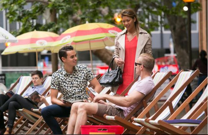 city of sydney, chairs in squares, whats on in sydney