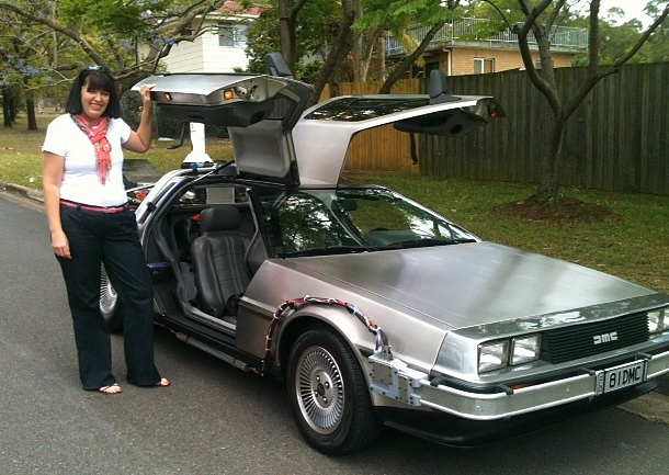 DeLorean, back to the future, BTTF, brad gaffy, old school, 80s, eighties, marty mcfly