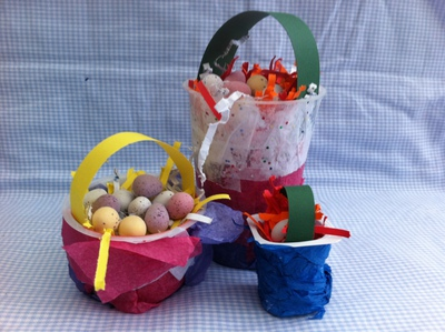 easter, basket, kids, pre school, under 5, craft