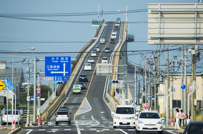 Eshima Ohashi Bridge, Matsue, Japan