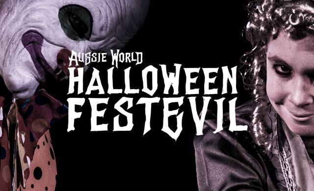 Halloween FestEvil, Aussie World, biggest Halloween celebration the Sunshine Coast, Mayhem, Epic Mazes, VIP Panic Rooms, two spine-chilling nights, Early Bird Tickets, a spooktacular night