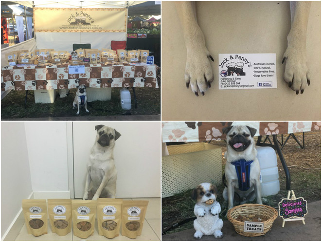 jack and pennys dog treats, manly markets