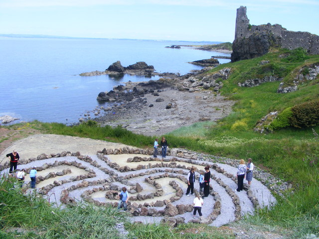 labyrinth, Dunure, Scotland