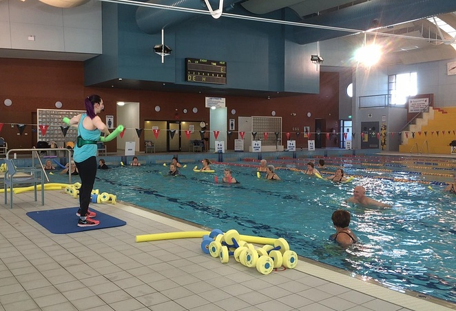lakeside leisure centre, canberra, ACT, aqua aerobics, exercise, swimming pool,