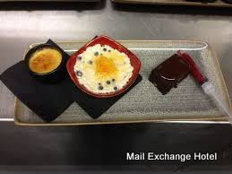 Mail Exchange Hotel, desserts