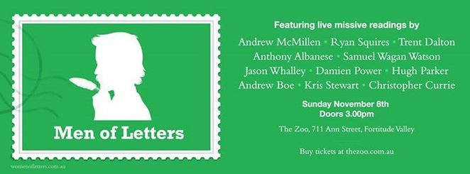 men of letters, the zoo, fortitude valley, wine, entertainment, writing, letters