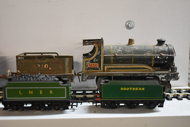 Model Mania at the South West Rail and Heritage Centre, model clockwork trains and rolling stock