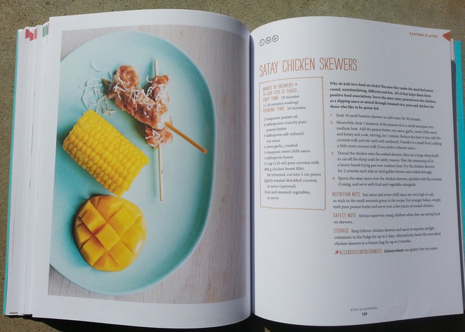 One Handed cooks, Recipe Book, Chicken satay, Tasting Plate, Mango, corn, Allie Gaunt