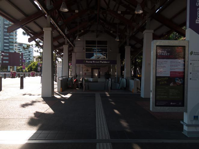 Roma Street Parklands Train Station Entrance