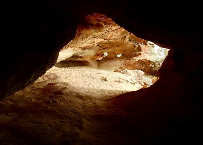 The beautiful weathering of the Sandstone Caves - when will you visit?
