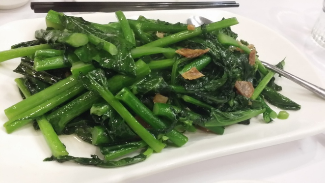 T Chow Restaurant, Fresh Green Kale with Dried Fish, Adelaide
