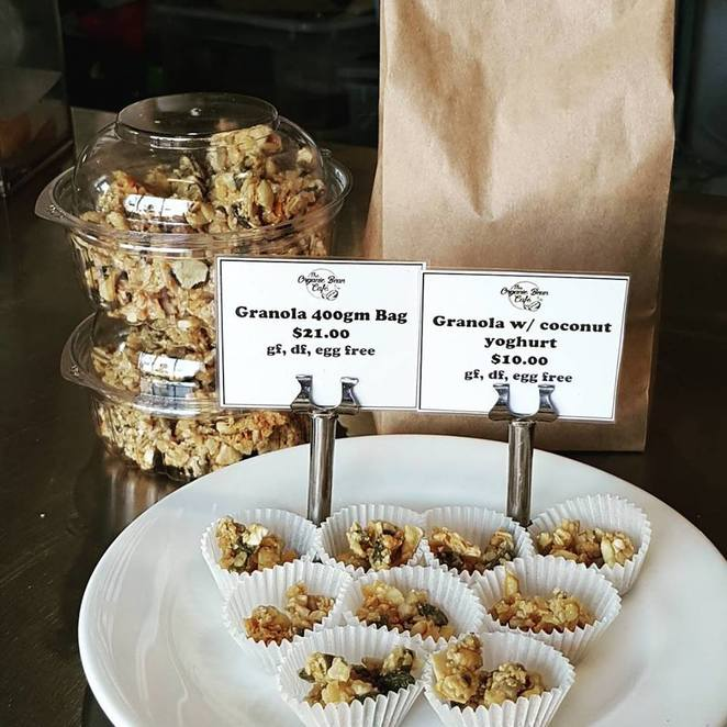 the organic bean cafe, canberra, ACT, granola, breakfast, paleo, gluten free, ACT,