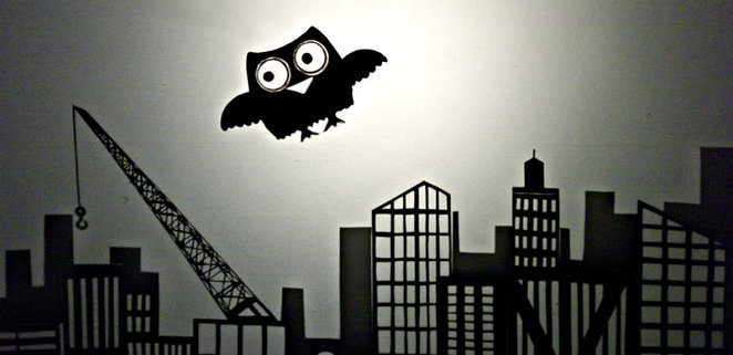 the owls apprentice, black box theatre, burrinja cultural centre, shadow puppet, puppets, story telling, jenny ellis, puppeteer, puppet making
