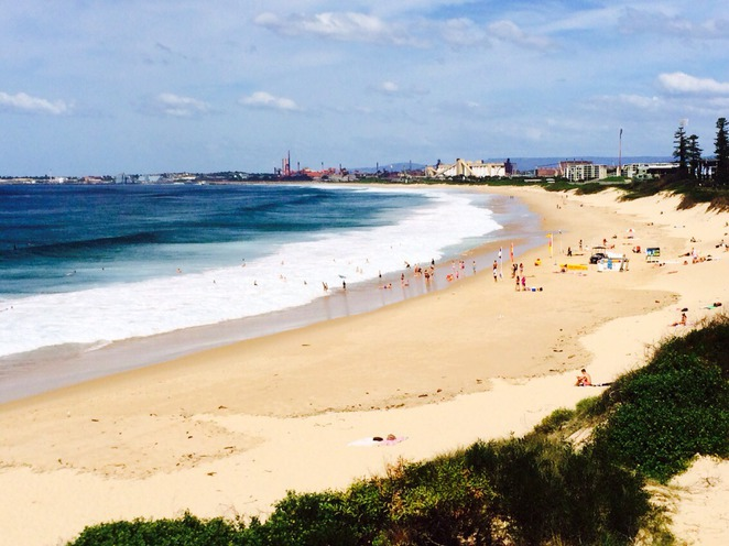 Wollongong city beach. Photo by Ronald Bolante.