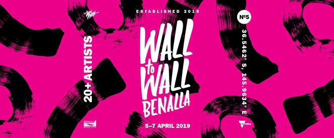 wall to wall festival 2019, community event, fun things to do, art festival, cultural festival, art festival in benalla, artistic lineup, art workshops, street art in the country, street art tours, virtual reality painting, after dark projections, town mural, festival artists, grain silo mural, goorambat, melbourne dvate, callum preston, insane51, 3d artworks
