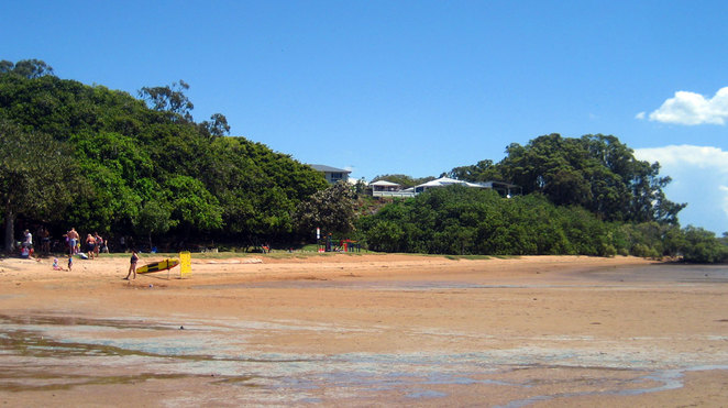 The little beach at Wellington Point at low tide