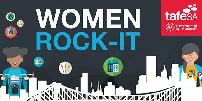 women rock IT, tafe sa, community event, fun things to do, education, guest speakers, information technology industry, free it event, rewarding it careers, new cdareer, job seeker, talks, lectures