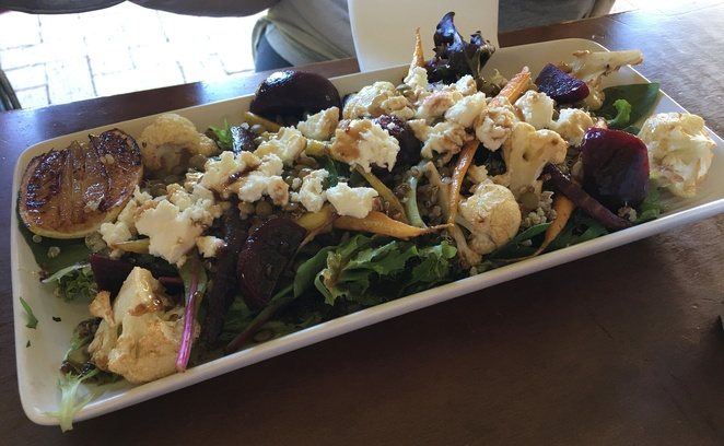 Baby Beets & Goat's Cheese Salad, Parx Coffee House