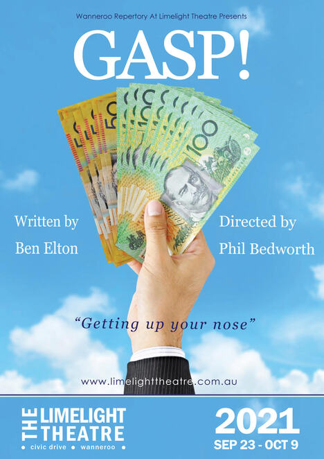 Ben Elton, Gasp!, Gasping, Limelight Theatre, comedy, performing arts, play, satire