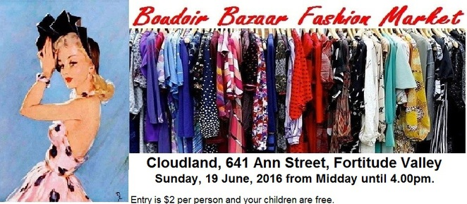 Boudoir Bazaar Fashion Market, Cloudland, Fortitude Valley, second-hand, fashion, market, bargains, clothing, accessories