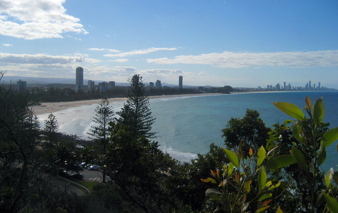 Burleigh Heads is my favourite beach on the Gold Coast