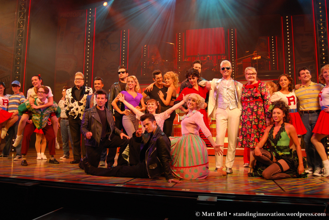 Cast of Grease. Grease Australian cast.