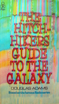 cover, book, hitchhikers guide to the galaxy