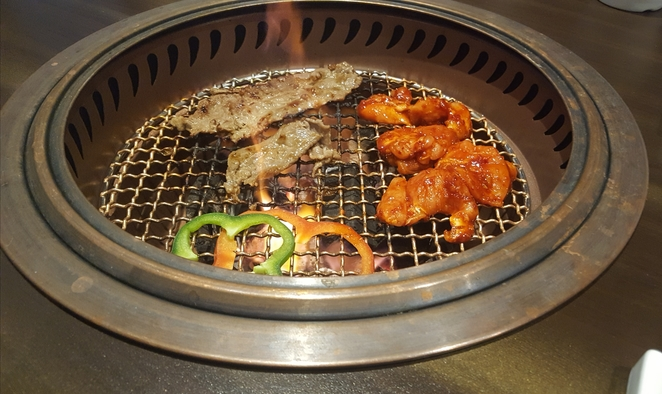 Dinner, BBQ, grill, chicken, beef, Korea