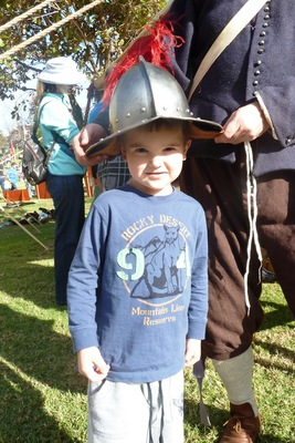 Dressing up at the Medieval Fayre, Blacktown