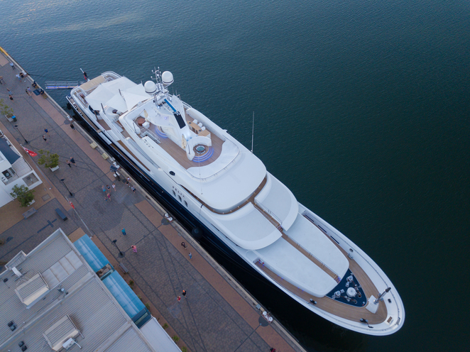 Felix Super Yacht from above