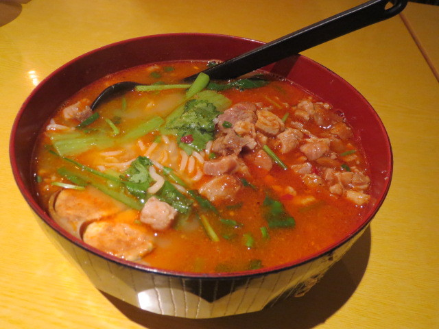 Go-in Canteen, Special Cooked Hot and Spicy Diced Pork Noodle, Adelaide