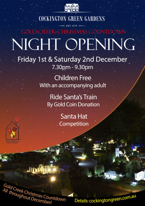 gold creek village, cockington green, night opening, countdown to christmas, ACT, events, kids, 2017,