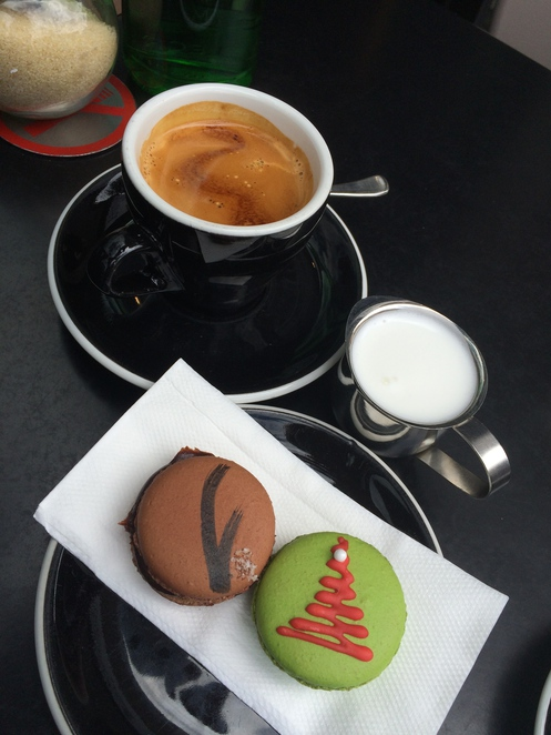 Great Coffee and Macarons