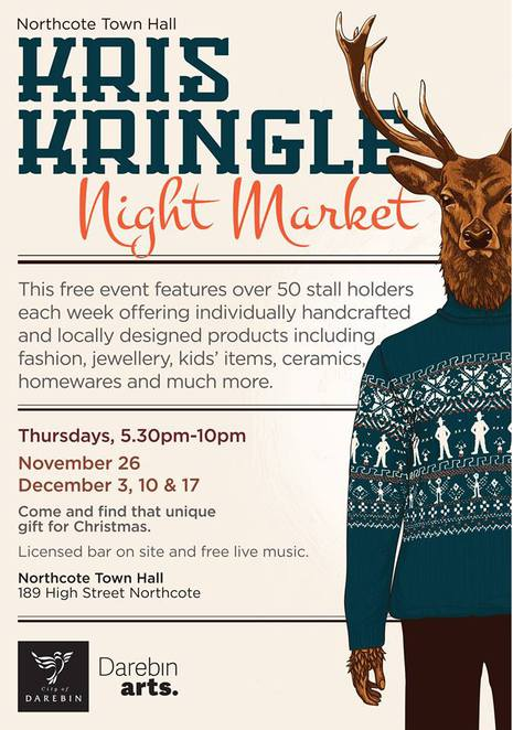 kris kringle market northcote town hall 2015