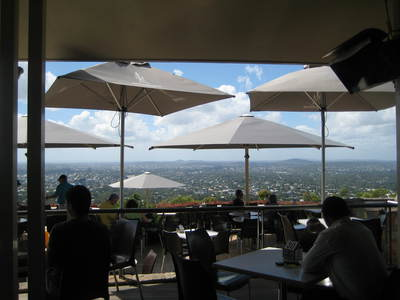 Kuta Cafe at summit of Mt Coot-tha
