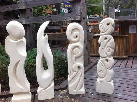 Limestone sculpting workshop Buleen Art Garden BAAG Jenny Whiteside
