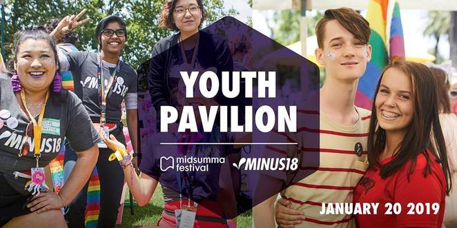 midsumma festival 2018, community event, fun things to do, minus18, alexandra gardens, midsumma carnival, lbgtiq, queer community, midsumma melbourne queer fetival, dancing, performances, djs, rainbow painting, glitter stations, chillout zones