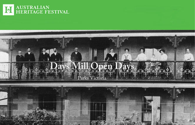 mothers day at days mill 2019, community event, fun things to do, tours, market stalls, food vans, entertainment, historical, days mill, high tea and tour, shepparton public art and history guided walk, murchison, parks victoria, murchison cfa, bbq, sadarc, shepparton and district amateur radio club, mills on the air, andersons mill, smeaton, 19th century mill technology, australian heritage festival 2019, connecting people places and the past, national trust of australia